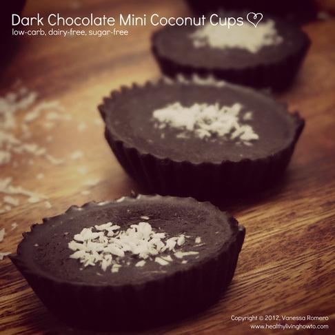 Dark Chocolate Mini Coconut Cups Image