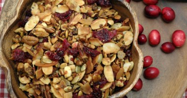 Sugar Free Granola with Dried Cranberries