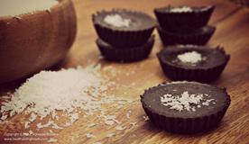Dark Chocolate Mini Coconut Cups