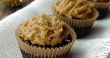 Healthy Baking: German Chocolate Cupcakes