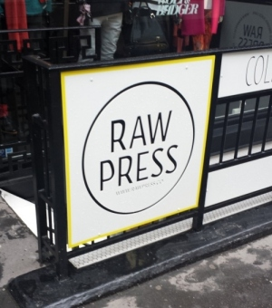 Raw Press, on Dover Street in Mayfair