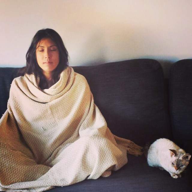 Meditating with the cat