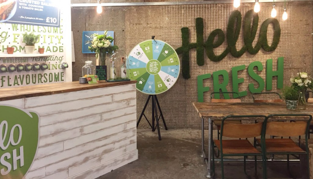 hello fresh pop up old street