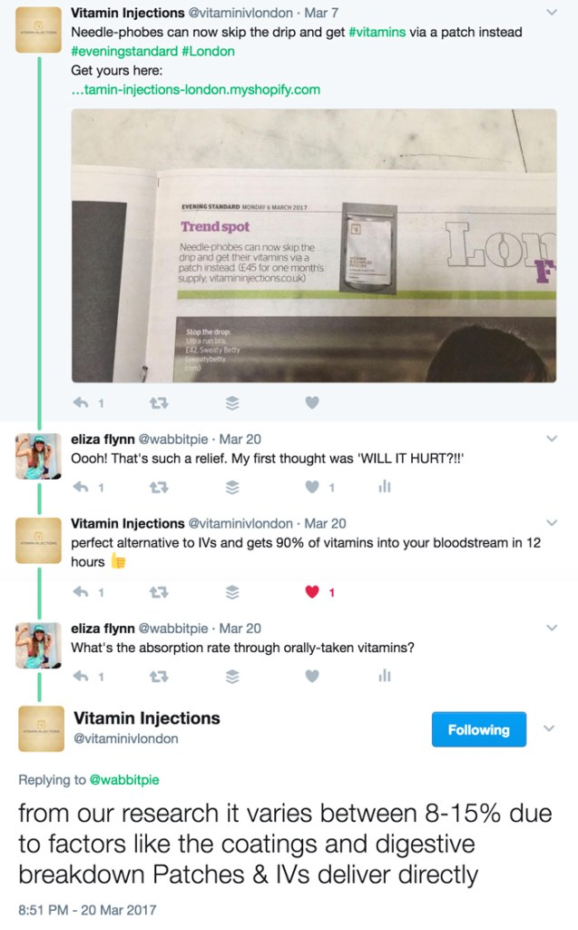 Vitamin Injections Skin Patches Twitter