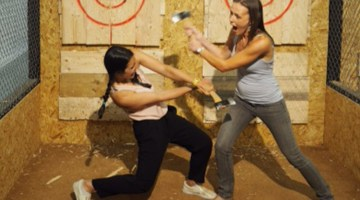 Whistle Punks Urban Axe Throwing: The answer to a stressful day?