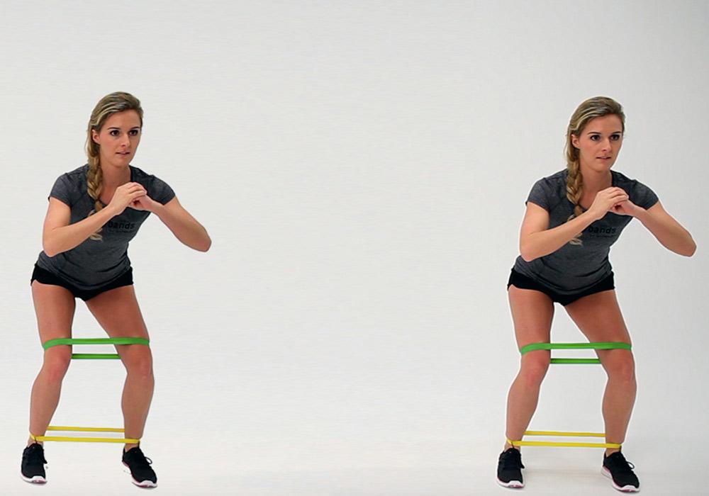 Powerband full body workout - squat