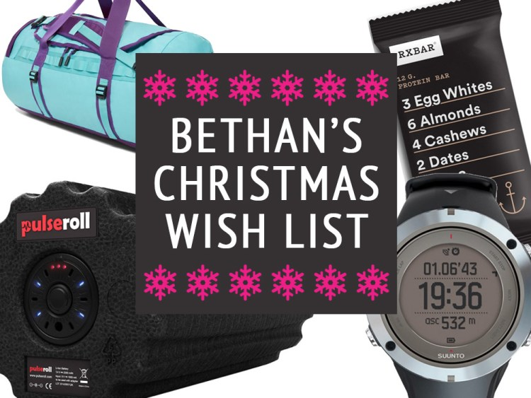 Bethan Taylor's sporty christmas list