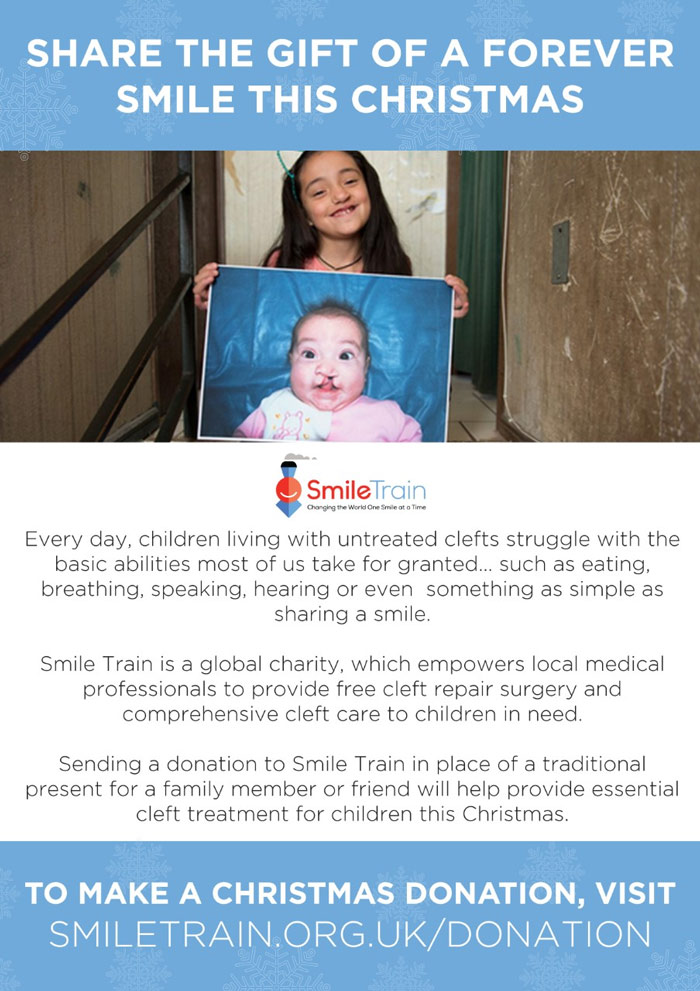 fitmas gift guide - smile train charity