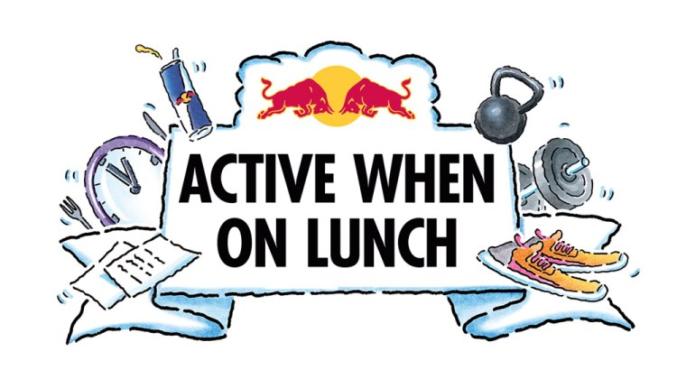 red bull free fitness classes - active when on lunch