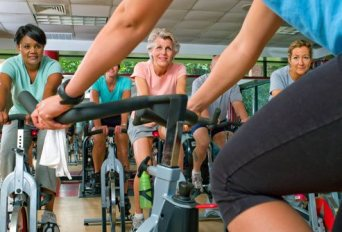 Group Fitness Indoor Cycling at Healthy Living Okc