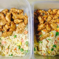 Attempt to Clean Eating Day 3: Cauliflower Fried Rice and Chicken Teriyaki