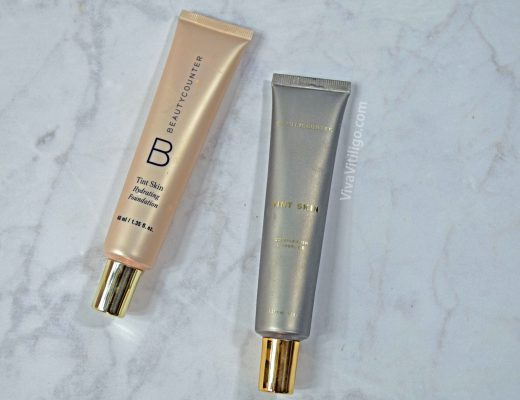 Beautycounter Tint Skin foundation tubes in porcelain and linen.