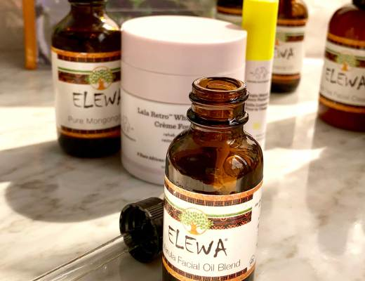 pictures and review of Elewa natrual vegan cruelty free organic skin care compared to Drunk Elephant marula oil