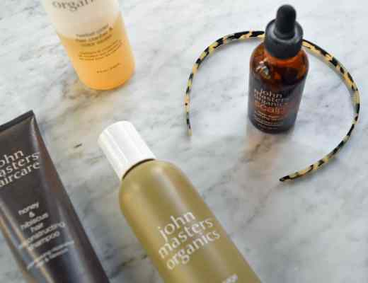 Review and pictures of John Masters Organics shampoo and organic hair care. I love the zinc and sage shampoo, herbal cider rinse and scalp treatment - all great natural hair care options for dry itchy scalp and dandruff.