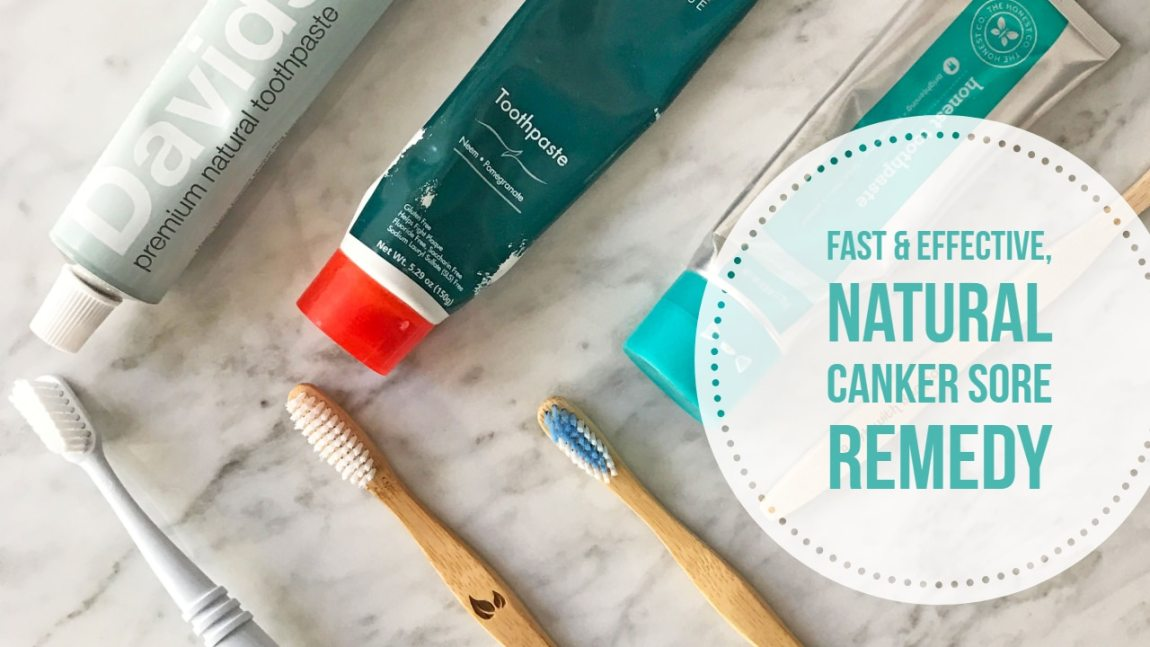 My natural canker sore remedy! Get rid of your Crest or Colgate toothpaste with SLS and try David's instead