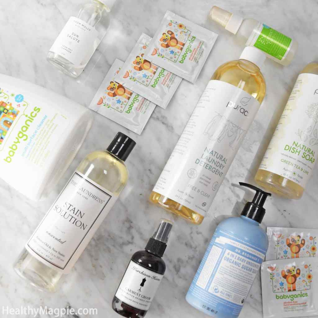 Natural, plant-based and non-toxic household cleaner reviews and pictures from Babyganics, The Laundress, Puracy, Branch Basics, From Molly with Love, Dr. Bronner's and more