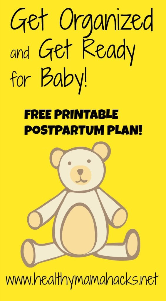 How to write a postpartum plan for easier postpartum recovery.