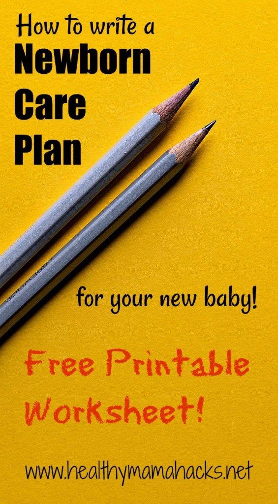 How to write a newborn care plan