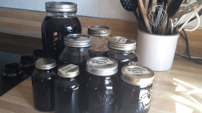 How to make elderberry syrup for colds and flu