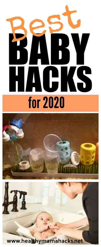 See this HUGE collection of the best BABY HACKS of 2020. 40+ tips, tricks and hacks to make life with a baby much easier for new parents! From cleaning to breastfeeding, diapering to sleep, these life-changing new parent hacks will simplify your life!  #babyhacks, #newparenthacks, #parenthacks