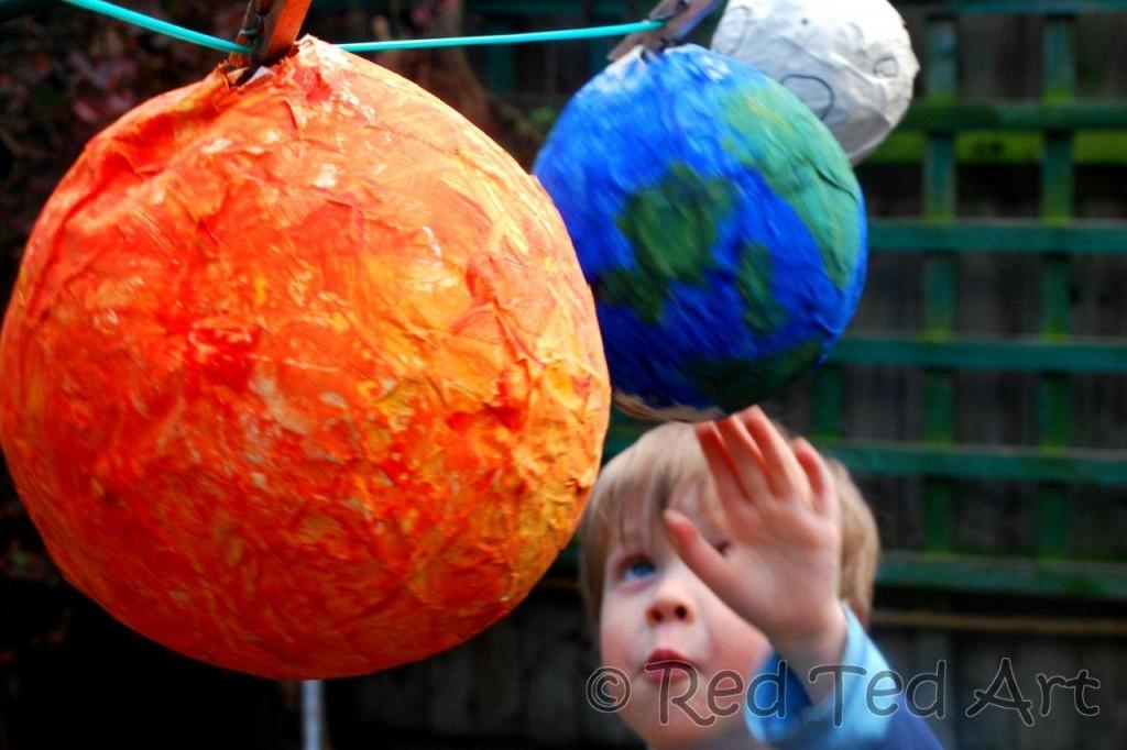 paper mache planets solar system - photo #2