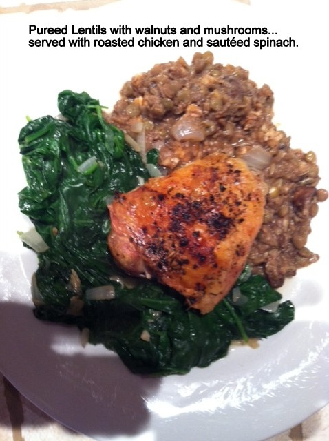 Pureed Lentils with Walnuts