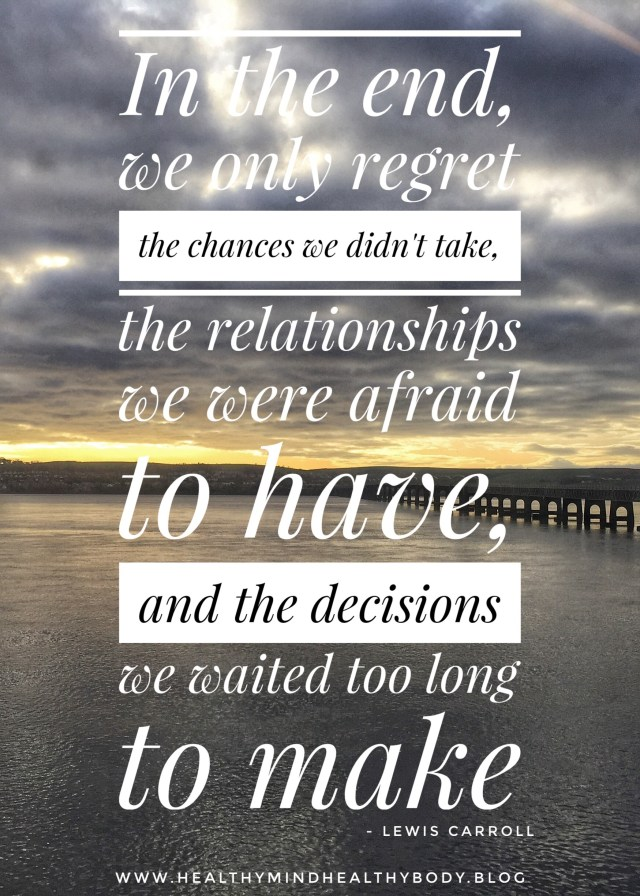 Common life regrets and how to avoid them by embracing life now and making changes to your daily routine so you have no regrets