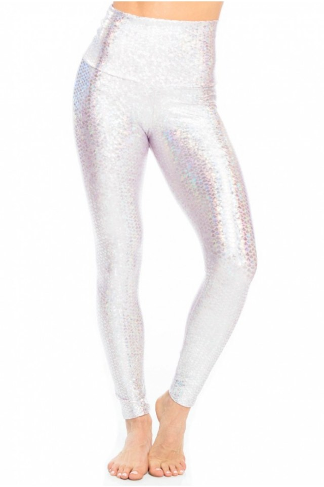 Let your inner mermaid shine in the Pink Mermaid Sneaker Legging from Emily Hsu Designs, perfect for your next yoga class or gym workout