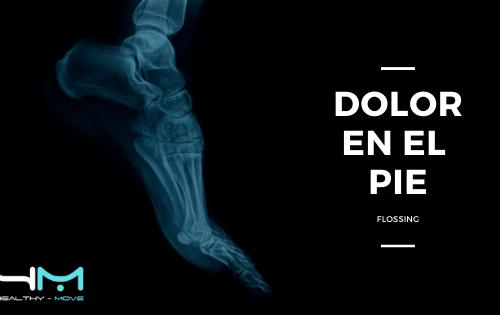 FLOSSING PARA TRATAMIENTO DE DOLOR EN EL PIE POR SESAMOIDITIS