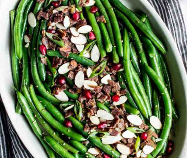 Miso Maple Green Beans With Bacon An Easy Holiday Side Dish For Your Holiday