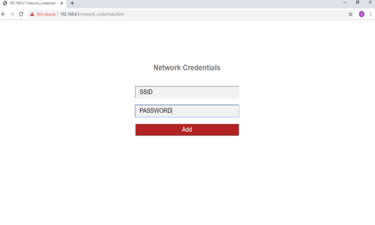 network credentials