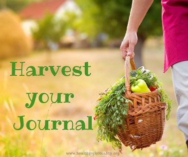 Harvesting a spiritual journal
