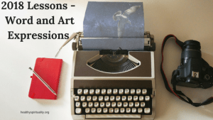 2018 Lessons – Word and Art Expressions