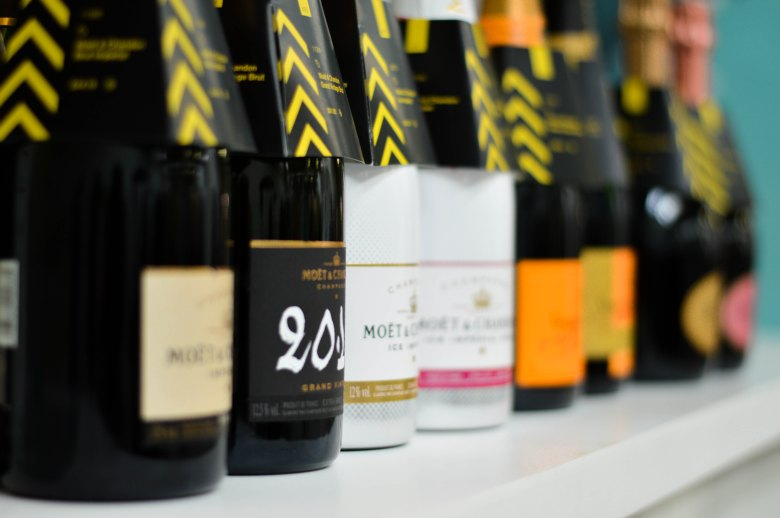 Selection of alcoholic drinks