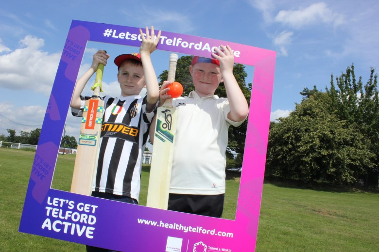 Cricket in Let's Get Telford Active