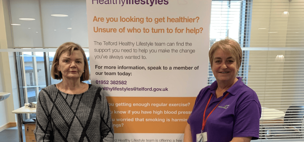 Agnes with her healthy Lifestyle advisor Catherine. She quit smoking and has been smoke free for 11 weeks.