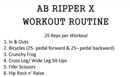 ab ripper x workout