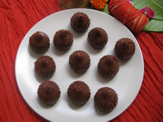 chocolate modak recipe in marathi
