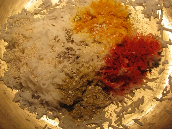 ingredients for mooli ka paratha