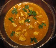 Spicy tofu curry