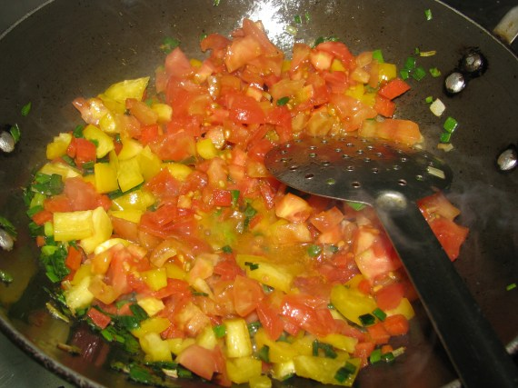add roasted tomatoes ,peeled ,diced tomatoes in pasta recipe