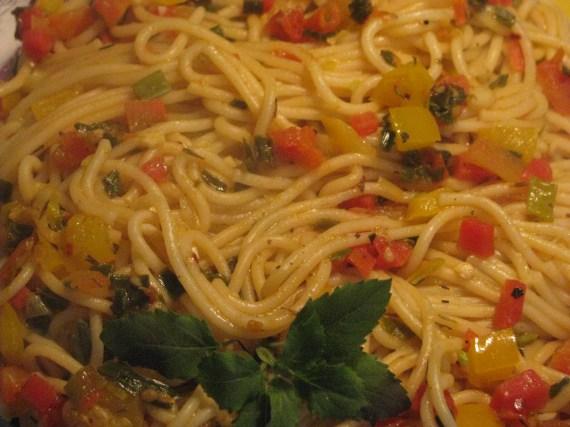 pasta in veg sauce