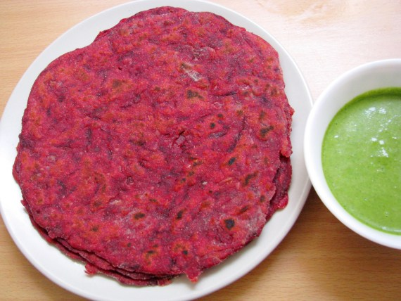 healthy Beetroot paratha