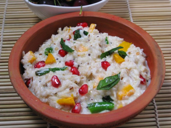 tasty brown rice recipe -indian curd rice