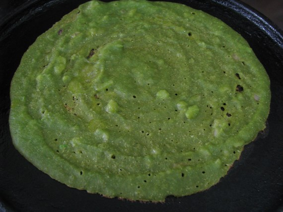 palak dosa from multi-grin flours