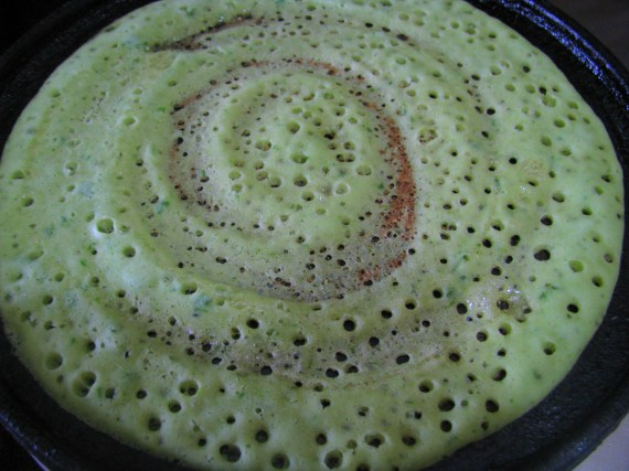 palak dosa from leftover dosa batter
