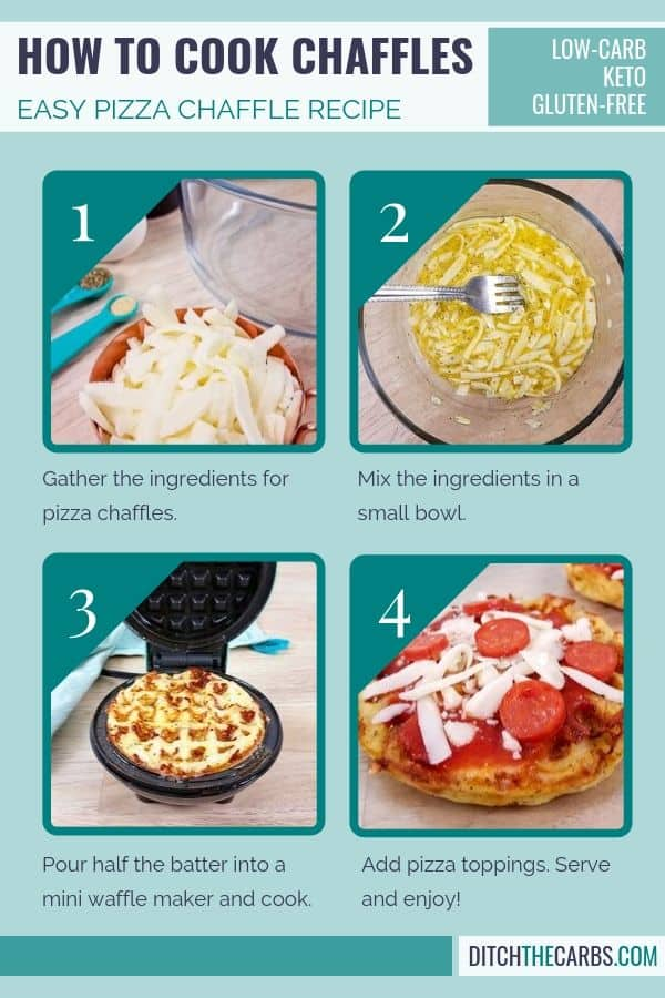 low-carb pizza chaffles recipe