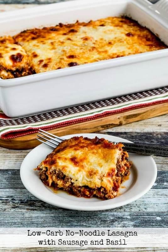 Low-Carb No-Noodle Lasagna with Sausage and Basil