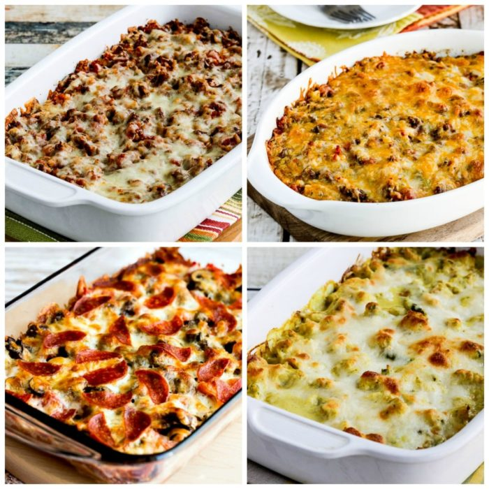 My Favorite Low-Carb and Keto Casserole Recipes top collage