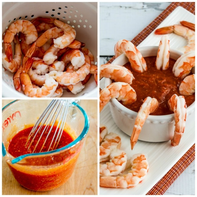 Shrimp with Low-Sugar Cocktail Sauce process shots collage